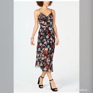 Foxiedox Women's Floral Tiered Chiffon Dress